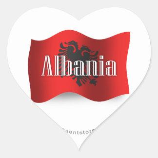 Albania Waving Flag Heart Sticker