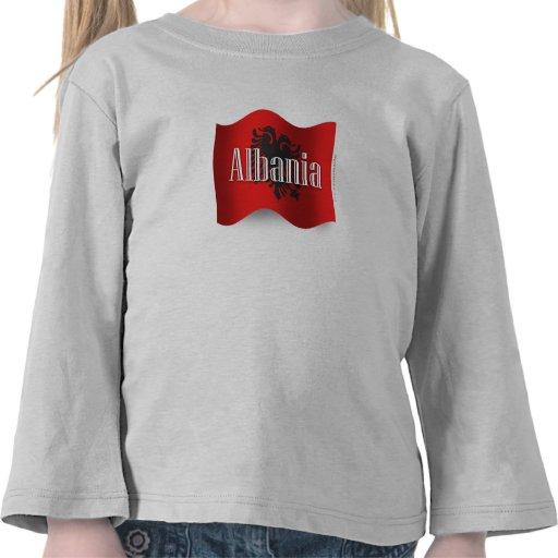 Albania Waving Flag T Shirt
