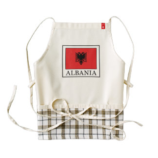 Albania Zazzle HEART Apron