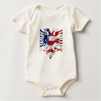 Albanian American Eagle Baby Bodysuit