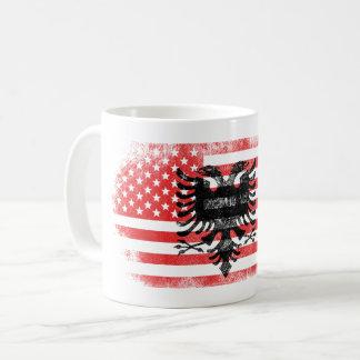 Albanian American Flag   Albania and USA Design Coffee Mug