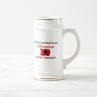 Albanian Builds Character Beer Stein