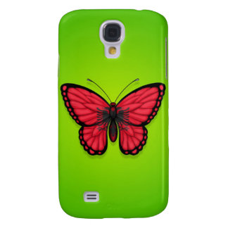 Albanian Butterfly Flag on Green Samsung Galaxy S4 Cases