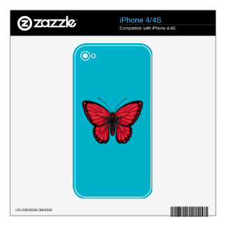 Albanian Butterfly Flag Decals For The iPhone 4S