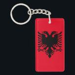 "Albanian Coat of arms Keychain<br><div class=""desc"">Black eagle double head symbol of Albania patriotic pattern</div>"