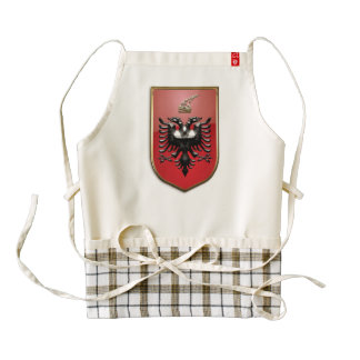 Albanian Coat of arms Zazzle HEART Apron