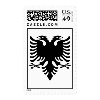 Albanian double headed eagle stamp