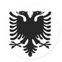 Albanian Eagle. Classic Round Sticker