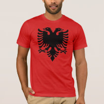Albanian Eagle gray pixel T-Shirt