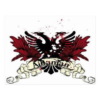 albanian eagle postcard