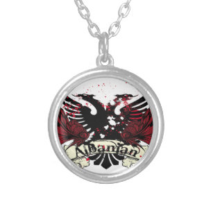 Albanian necklaces lockets zazzle albanian eagle silver plated necklace aloadofball Gallery