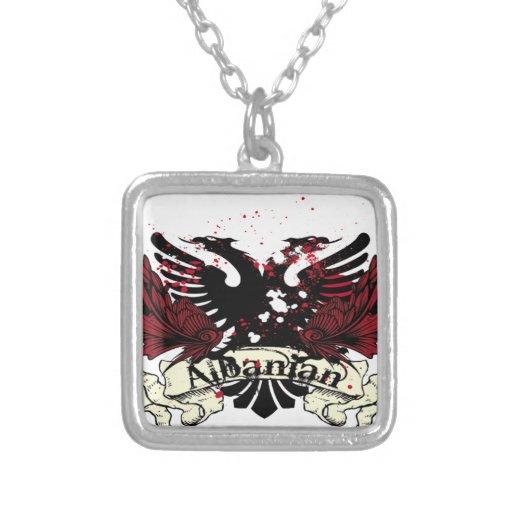 albanian eagle square pendant necklace zazzle