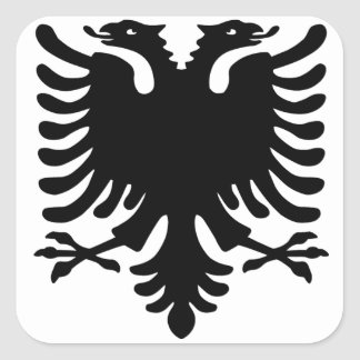 Albanian Eagle. Square Sticker