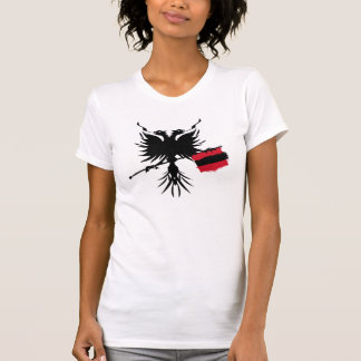Albanian Eagle with Flag Ladies T-shirt