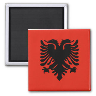 Albanian Flag 2 Inch Square Magnet