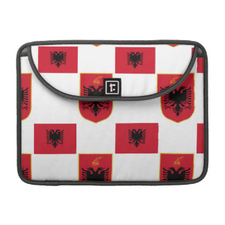 Albanian Flag and Crest Rickshaw Flap Sleeve
