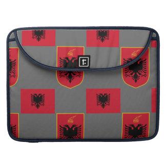 Albanian Flag and Crest Rickshaw Flap Sleeve