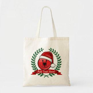 Albanian Flag Christmas Style Tote Bag