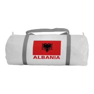 Albanian Flag Customizable Red Text Gym Bag