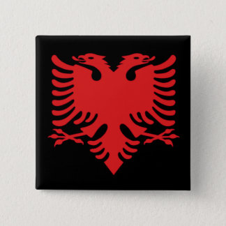 Albanian Flag Double Headed Eagle In Red Button