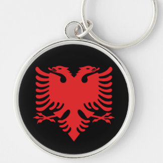 Albanian Flag Double Headed Eagle In Red Keychain