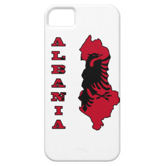 Albanian Flag in Outline Map of Albania iPhone SE/5/5s Case