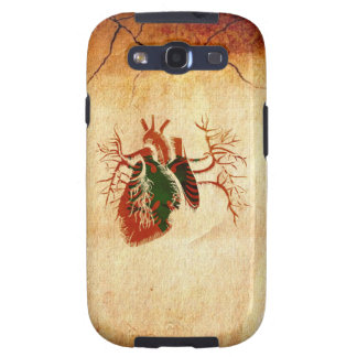 Albanian Flag in Real heart Samsung Galaxy S3 Case