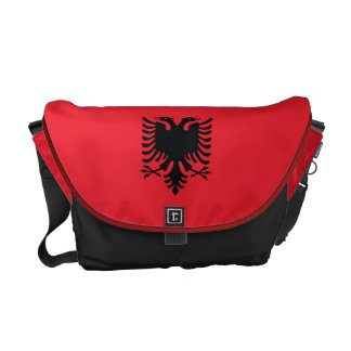 Albanian Flag Messenger Bag