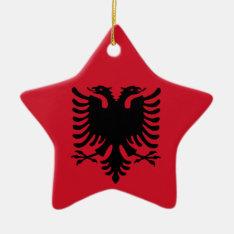 Albanian Flag On Ceramic Star Pendant Ceramic Ornament at Zazzle
