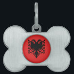 """Albanian Flag Pet Tag<br><div class=""""desc"""">Classic Albanian flag design! Available on many products in our store. Show your Albanian pride or buy something for that special Albanian in your life!</div>"""