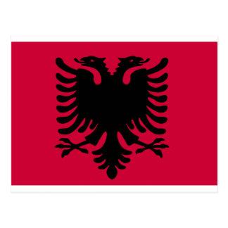 Albanian Flag Postcard