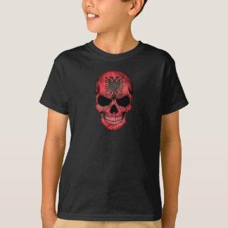 Albanian Flag Skull T-Shirt
