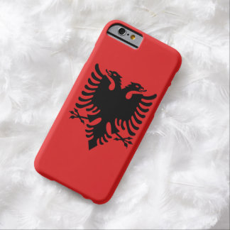 Albanian flag with two-headed eagle barely there iPhone 6 case