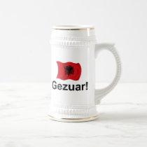 Albanian Gezuar! (Cheers) Beer Stein