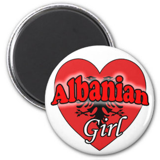 Albanian Girl 2 Inch Round Magnet