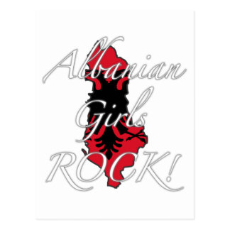 Albanian Girls Rock! Postcard