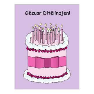 Albanian Happy Birthday Postcard
