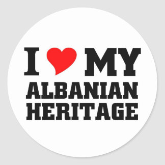 Albanian Heritage Classic Round Sticker