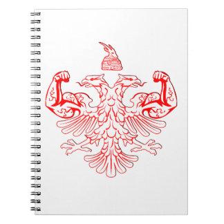 Albanian Power Spiral Notebook