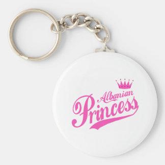 Albanian Princess Basic Round Button Keychain