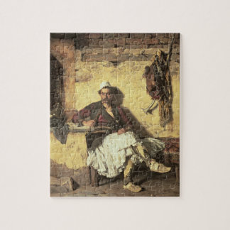 Albanian Sentinel Resting (Arnaueti) (oil on canva Jigsaw Puzzle