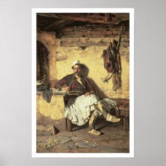 Albanian Sentinel Resting (Arnaueti) (oil on canva Poster