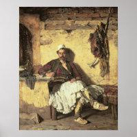 Albanian Sentinel Resting (Arnaueti) (oil on canva