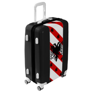 Albanian stripes flag luggage