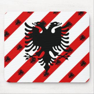 Albanian stripes flag mouse pad