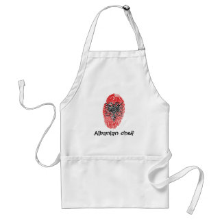 Albanian touch fingerprint flag adult apron