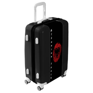 Albanian touch fingerprint flag luggage