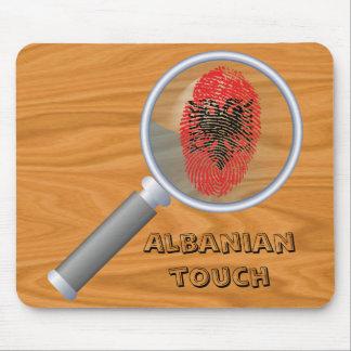 Albanian touch fingerprint flag mouse pad