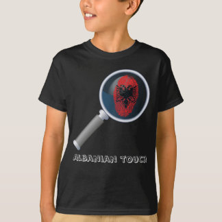 Albanian touch fingerprint flag T-Shirt