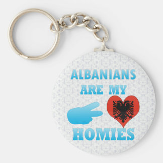 Albanians are my Homies Basic Round Button Keychain